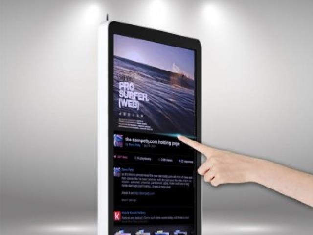 Totem tactile interactive écran 43